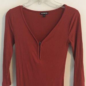Express burnt orange sweater top